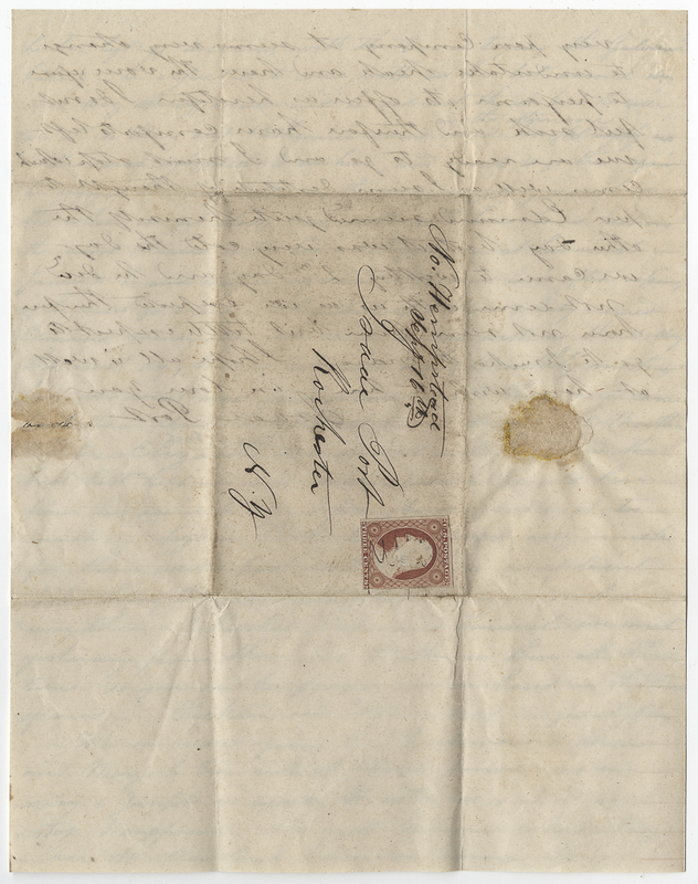 Post, Isaac. Letter to Sarah L Kirby Hallowell Willis.