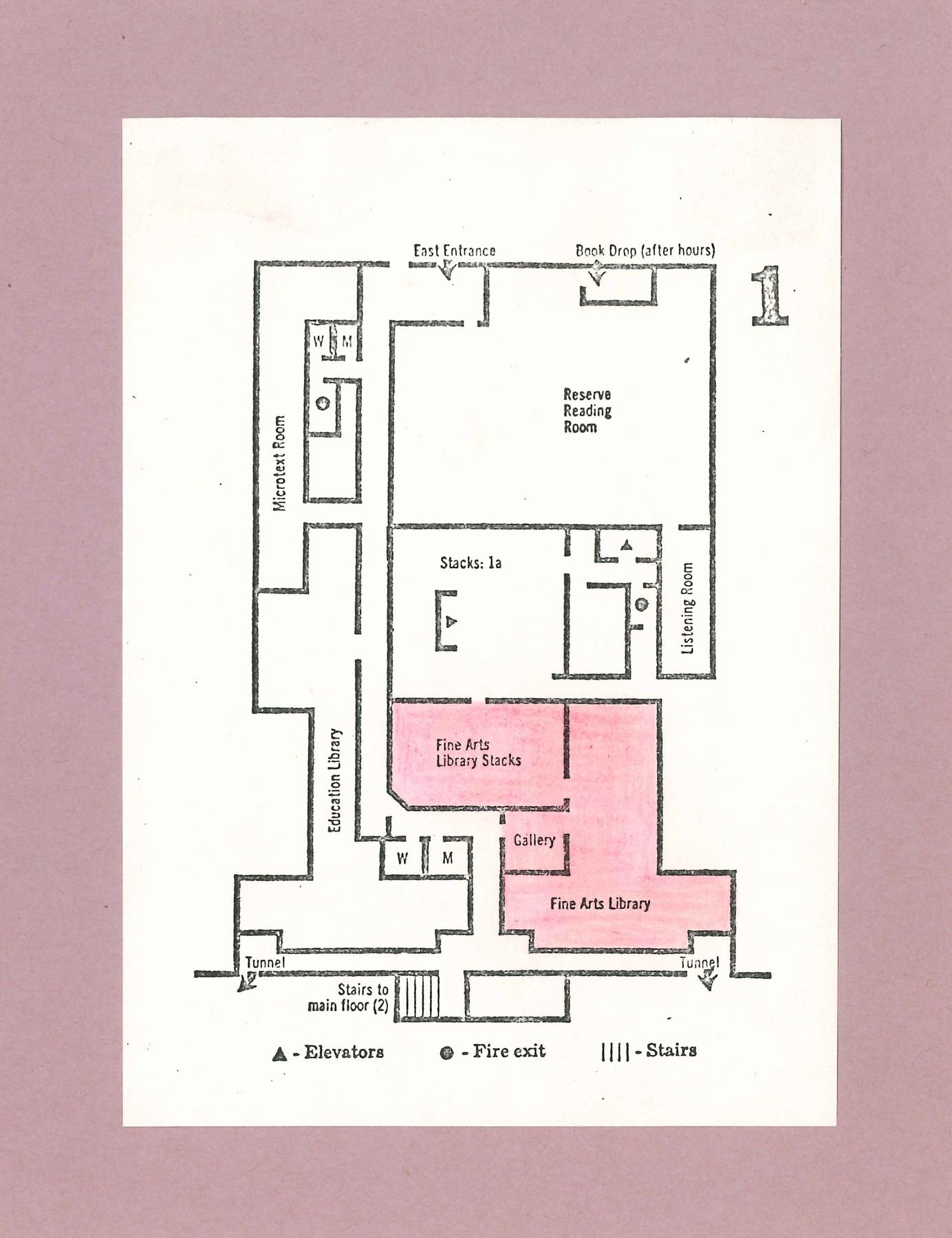 Rush Rhees Library: Floor plans (1970)