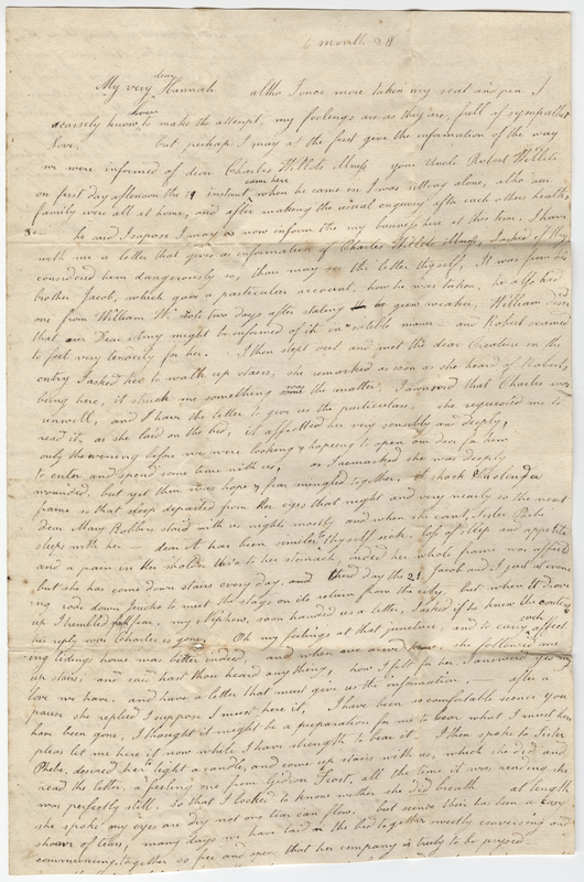 Kirby, Mary. Letter to Hannah Post.