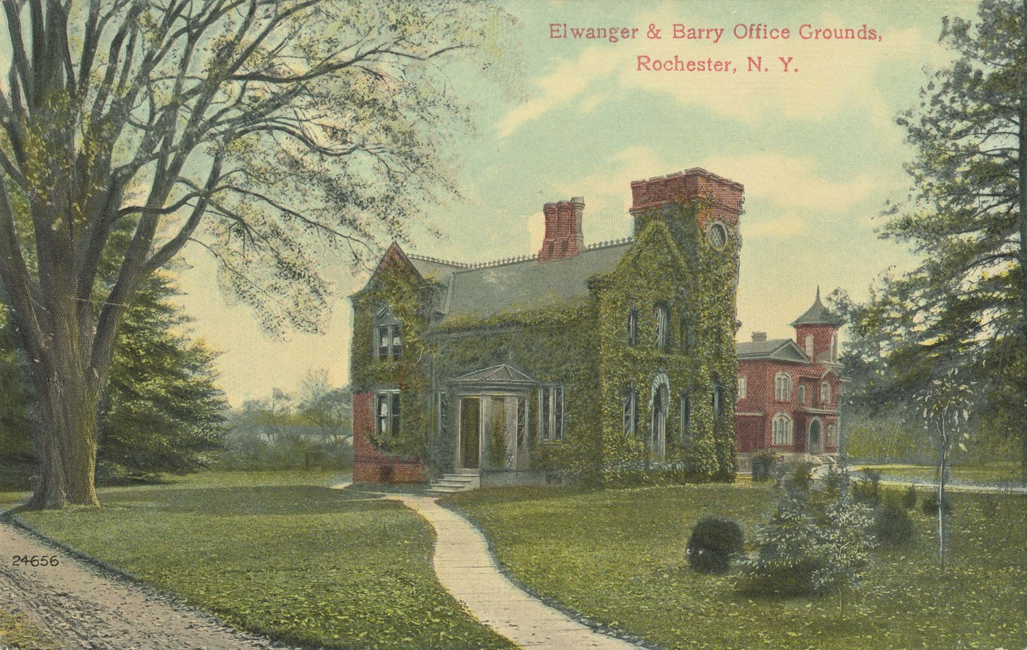 Ellwanger and Barry Office Grounds. Rochester N.Y.