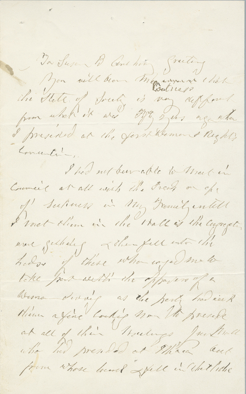 Letter from Abigail Bush to Susan B. Anthony