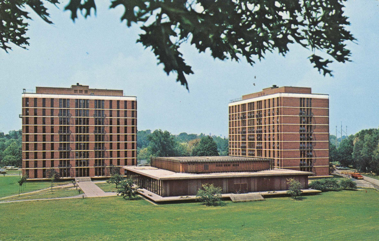 Wilder and Anderson dormitories, with Sage Dining Center