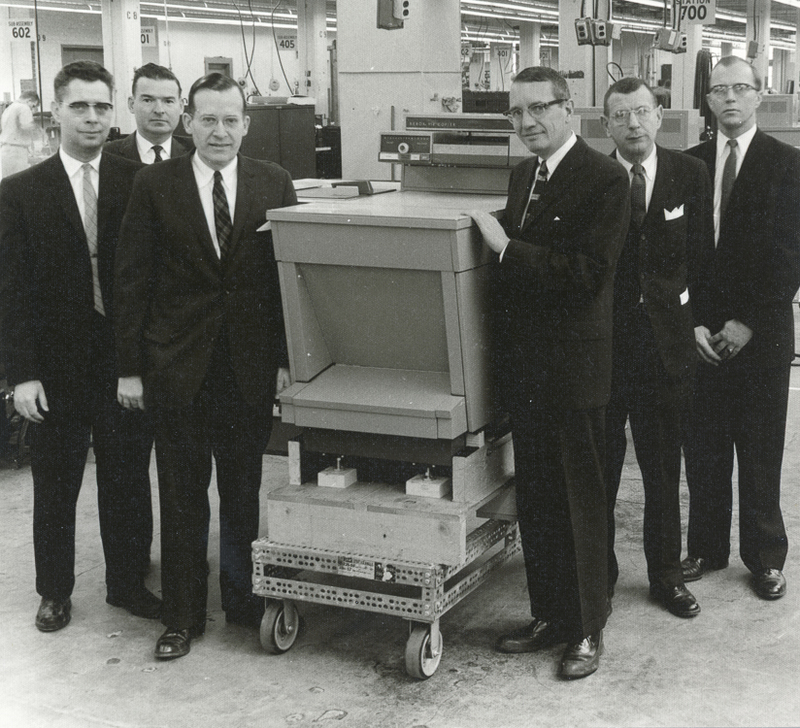 Wilson and others with a Haloid-Xerox copier