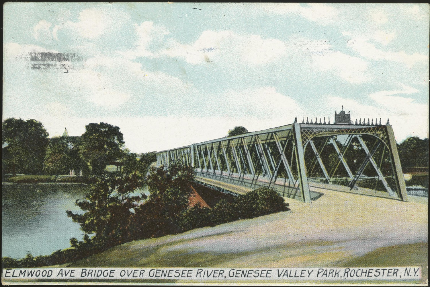 Elmwood Avenue Bridge Over Genesee River, Genesee Valley Park, Rochester, N.Y.