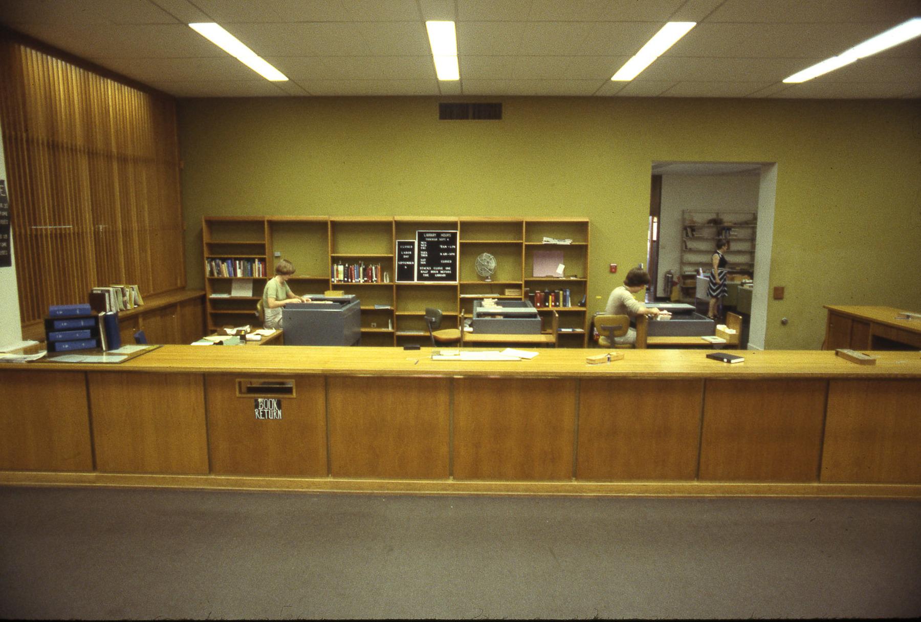 Rush Rhees Library: Circulation Area