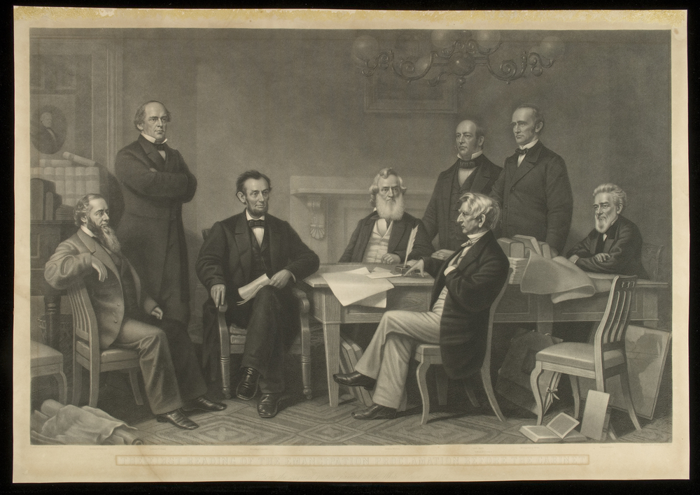 Lincoln Reading the Emancipation Proclamation