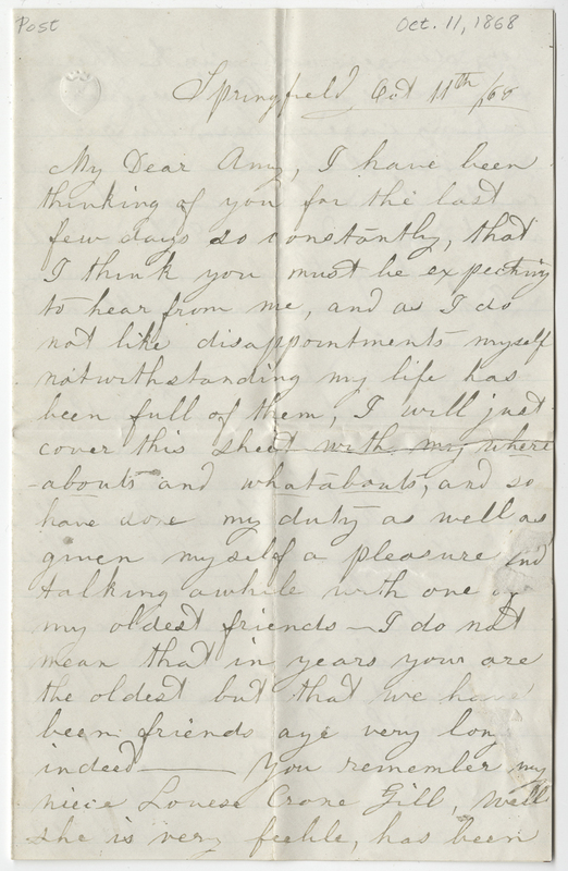 Colman, Lucy Newhali Danforth. Letter to Amy Kirby Post.