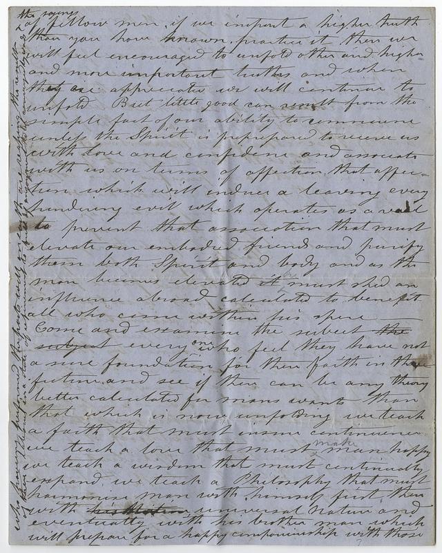Unknown writer. Letter to unknown recipient.