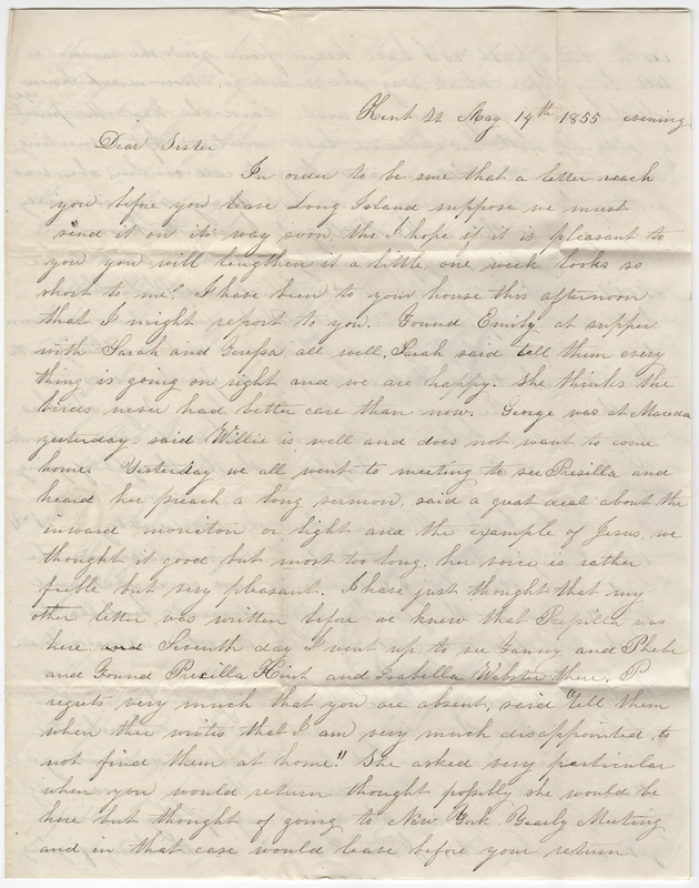 Kirby, Sarah. Letter to Amy Kirby Post
