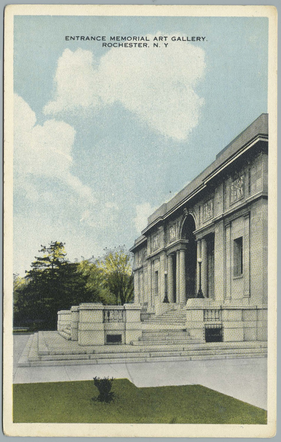 Entrance Memorial Art Gallery. Rochester, N.Y.