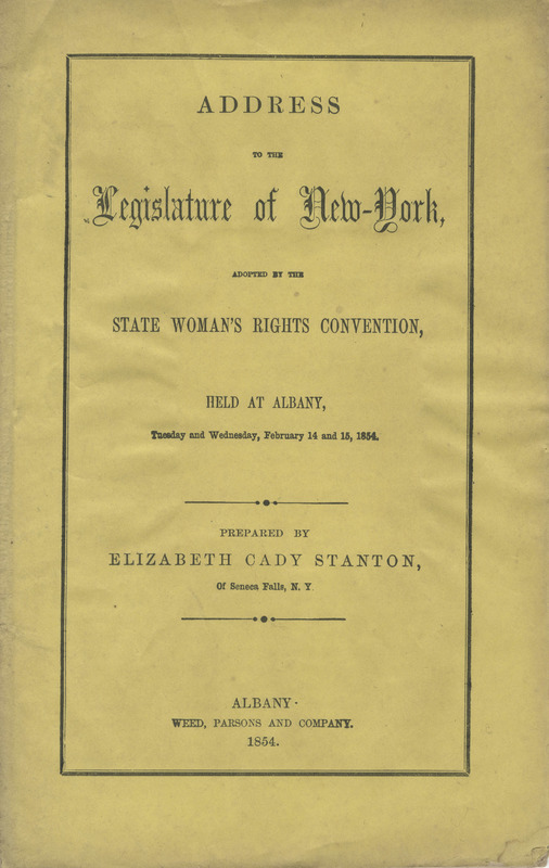 Address to the Legislature of New-York