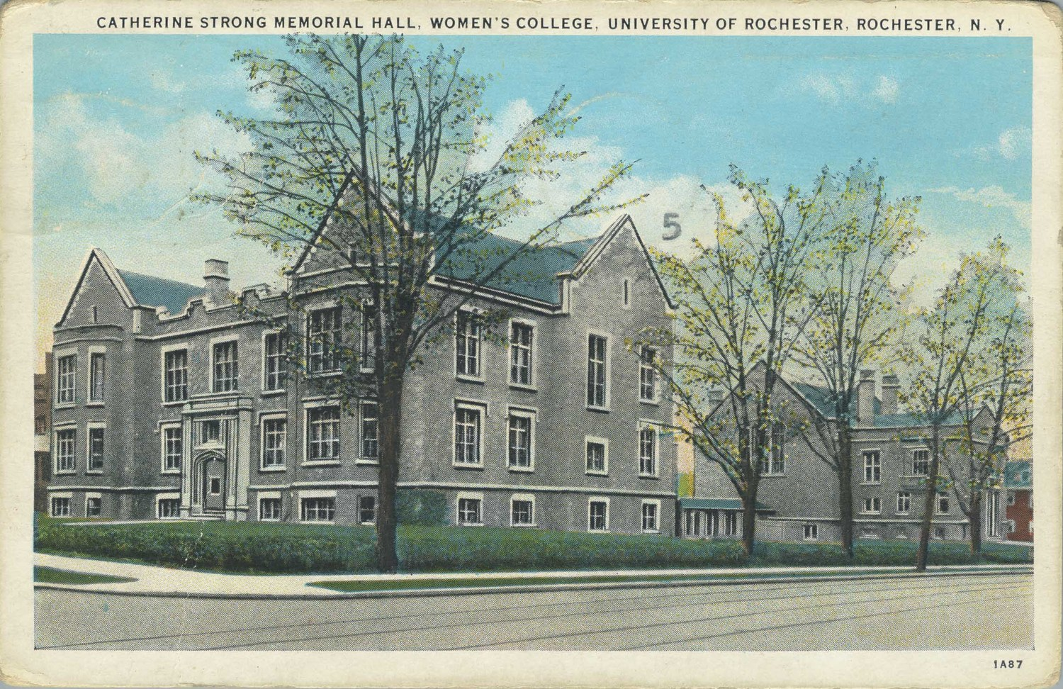 Catherine Strong Memorial Hall. Women's College. University of Rochester. Rochester N.Y.