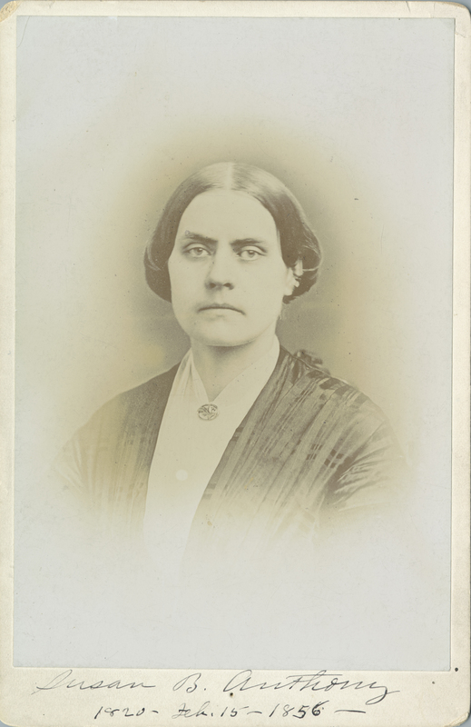 Photograph of  Susan B. Anthony at age 36