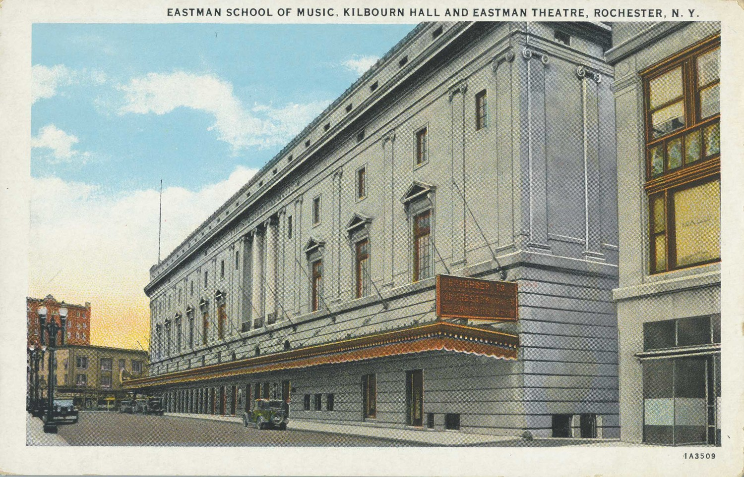 Eastman School of Music, Kilbourn Hall and Eastman Theatre, Rochester, N.Y.