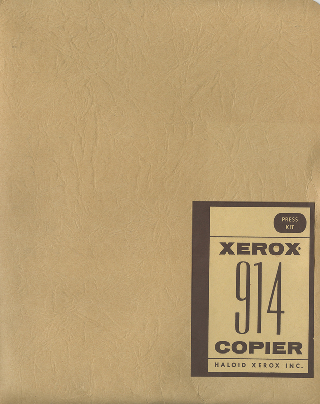 Xerox 914 Press Kit