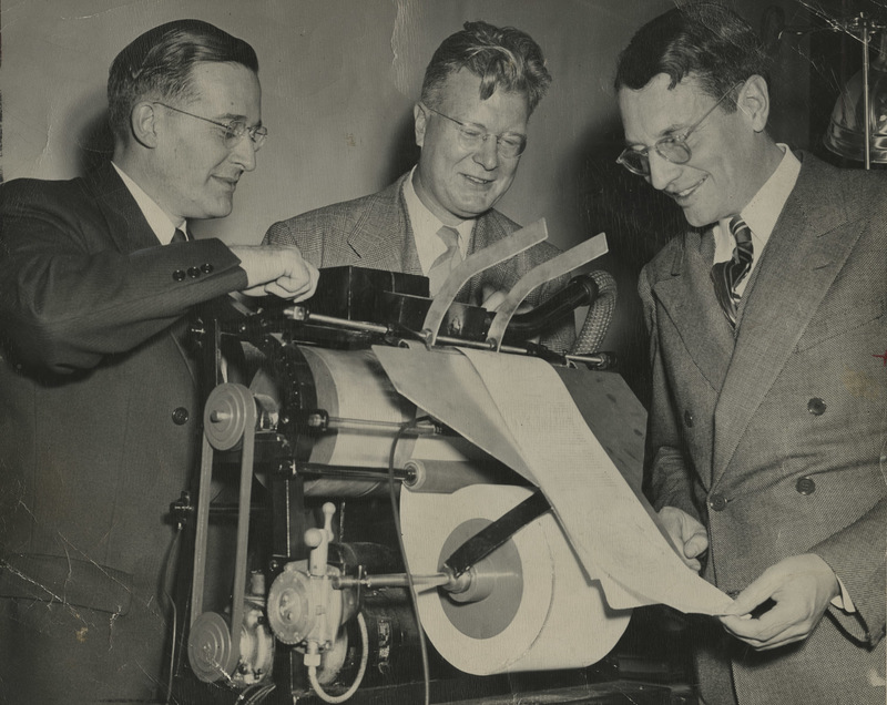 Wilson, Carlson, and Dessauer with Xeroprinter