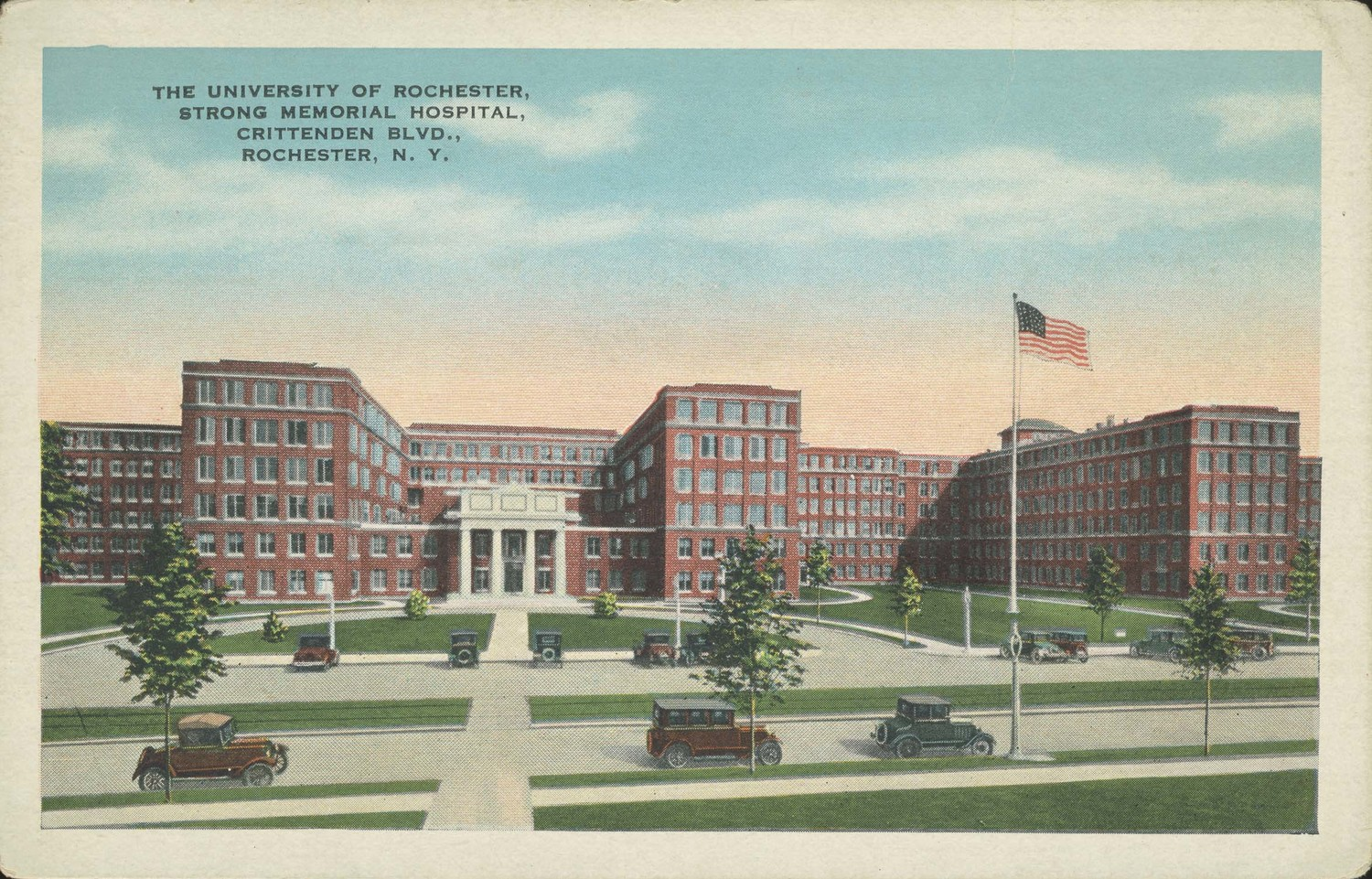 The University of Rochester, Strong Memorial Hospital, Crittenden Blvd., Rochester, N.Y.
