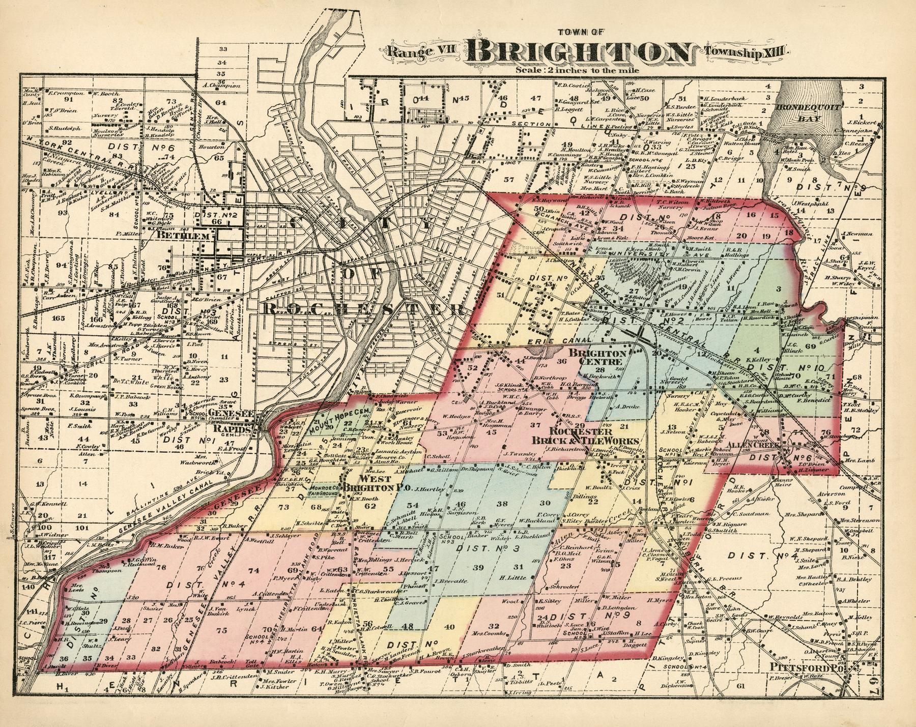 Atlas of Monroe Co., New York.