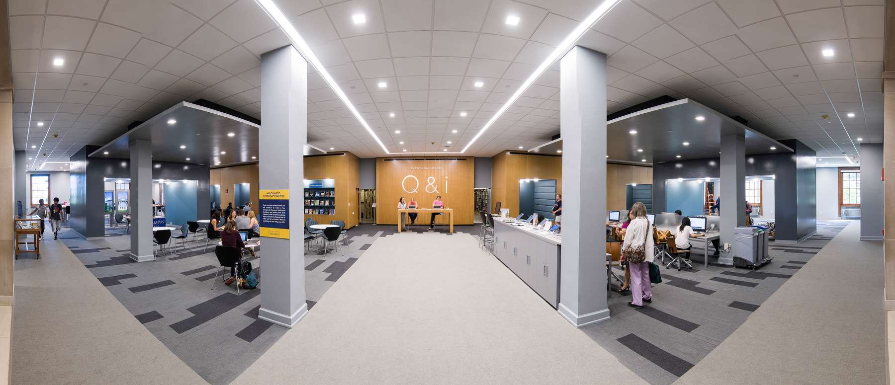 Rush Rhees Library: Evans Lam Square