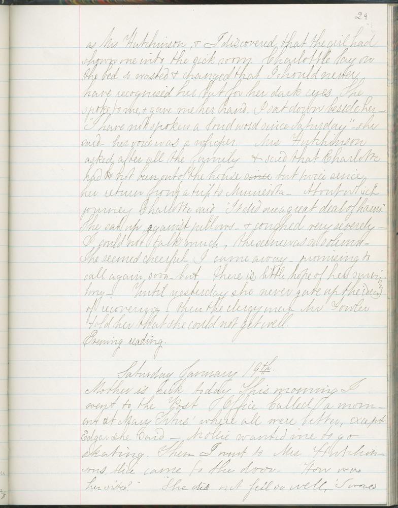 Diary entry from Fanny Seward, January 19, 1861