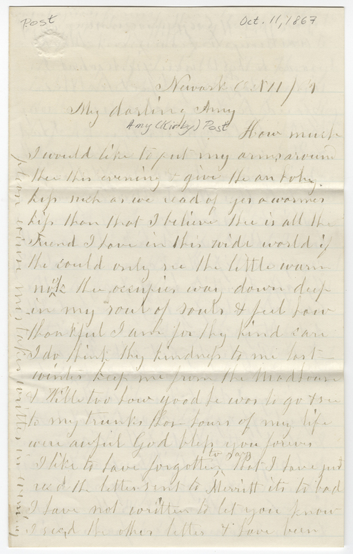 _____, Mary ?. Letter to Amy Kirby Post.