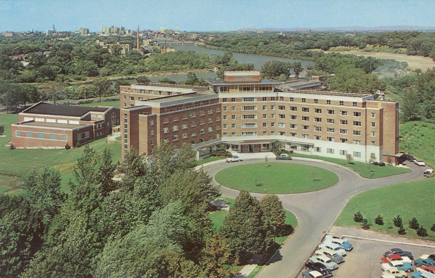 Aerial View of Women's Residence Hall.