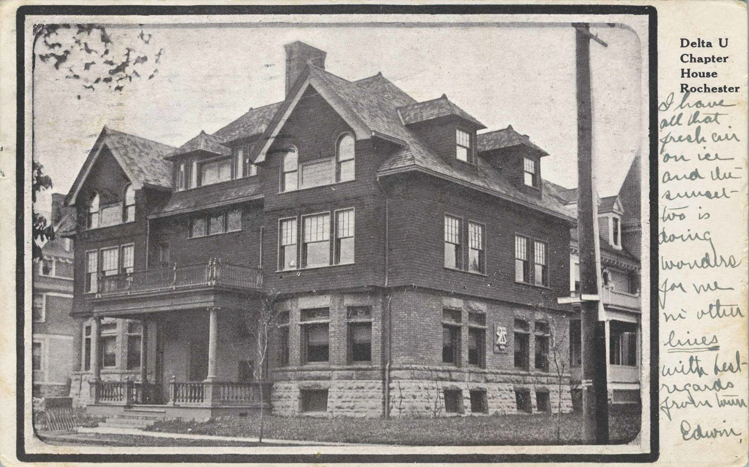 Delta Upsilon Chapter House, Rochester.