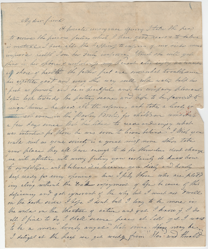 Thayer, E. Letter to Isaac Post.