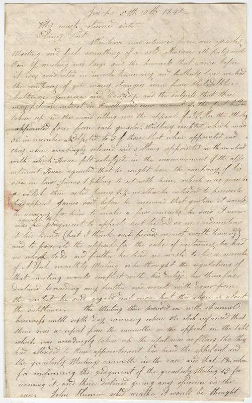 Willis, John. Letter to Amy Kirby Post.
