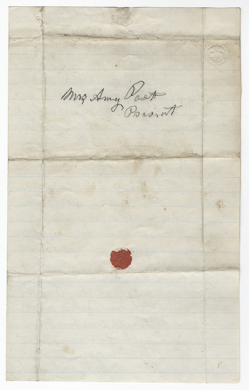 Abbott, Mary C. Letter to Amy Kirby Post.