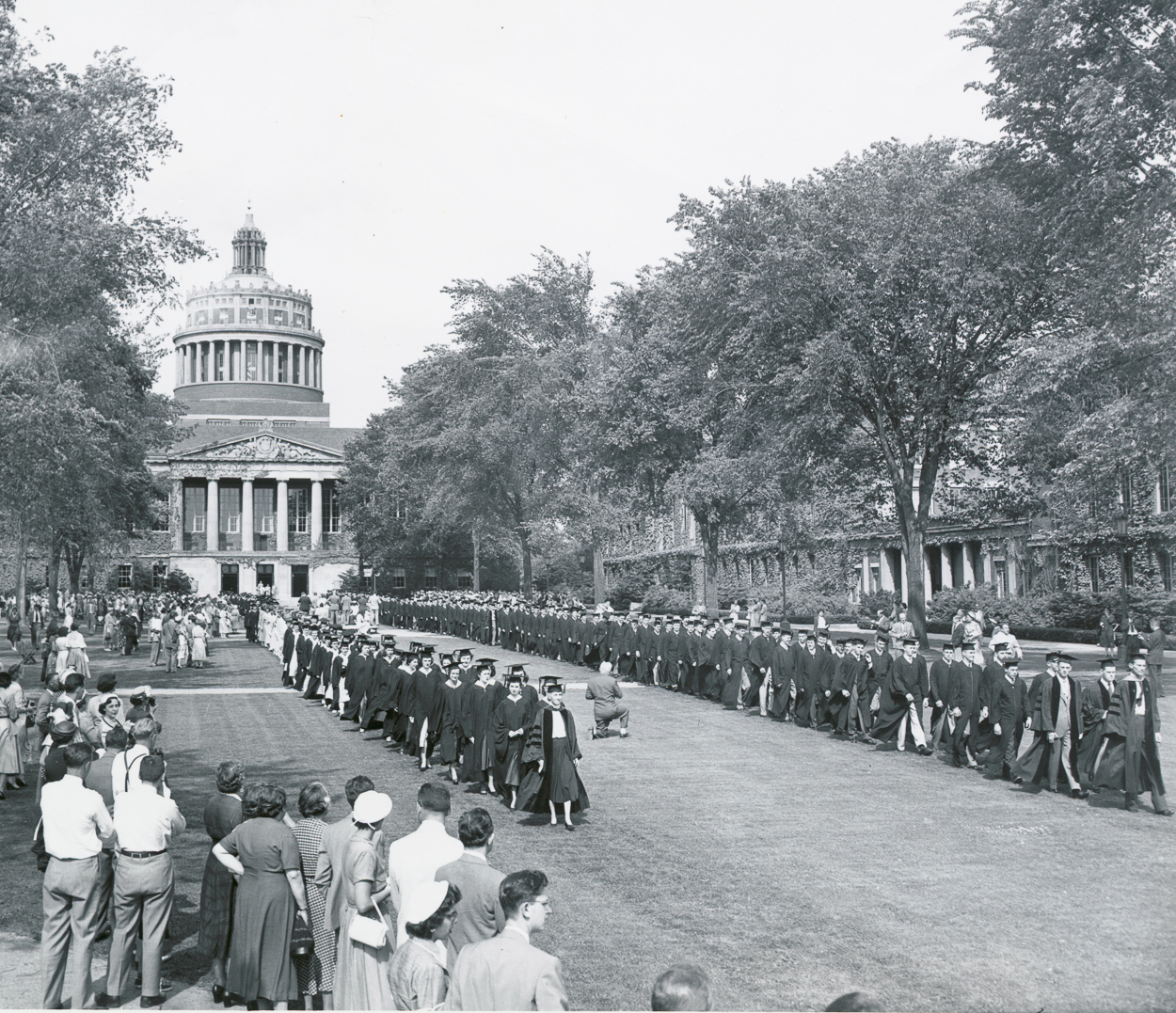Academic procession on the Eastman Quadrangle