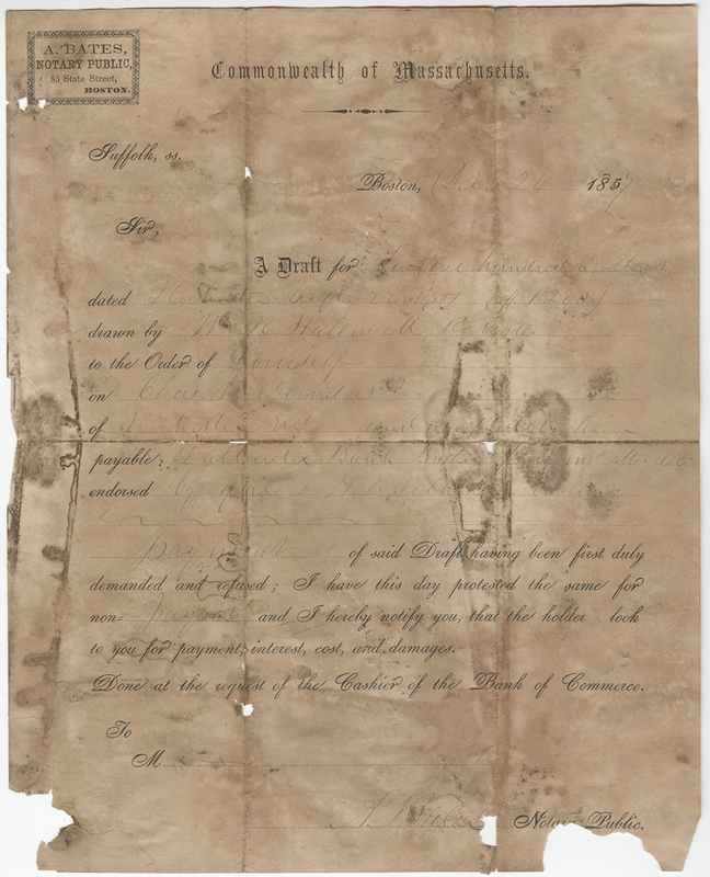 Bales, A. Letter to Isaac Post.