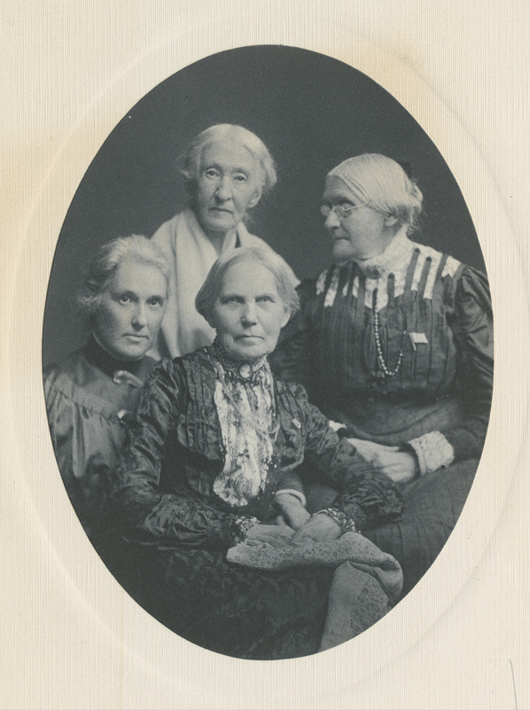 Anthony, Susan B. with Elizabeth Smith Miller, Annie Fitzhugh Miller, Mary S. Anthony