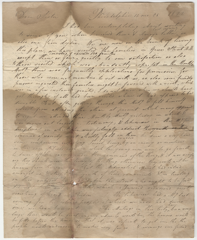 Kirby, Mary. Letter to David Leaman?
