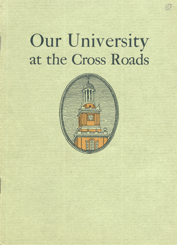 Our University at the Cross Roads