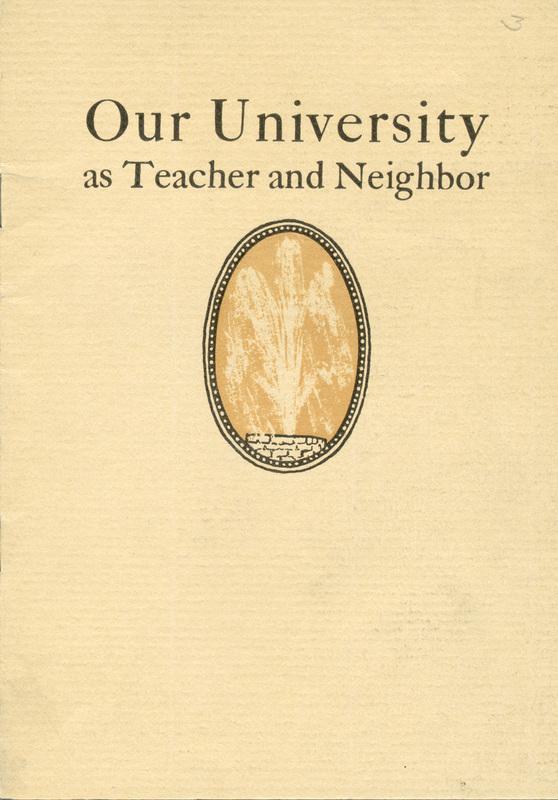 Our university as teacher and neighbor