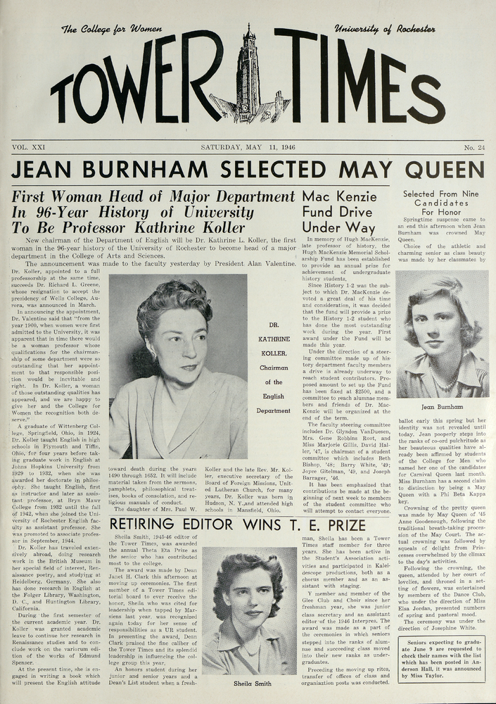 Tower-Times, May 11, 1946.<br />