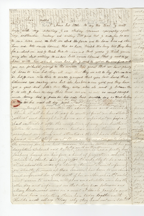 Willis, Phebe P. Letter to Amy Kirby Post.