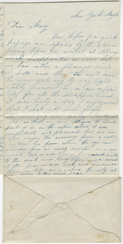 Unknown writer. Letter to Mary Kirby.