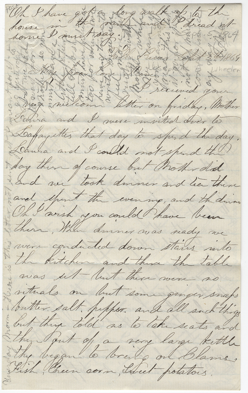 _____, Ada ?. Letter to Josephine E Wheeler.