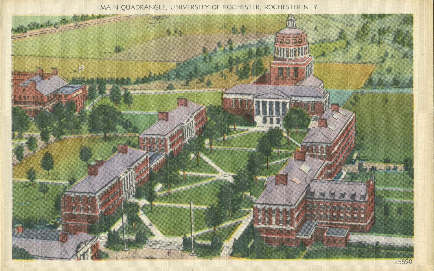 Main Quadrangle, University of Rochester, Rochester, N.Y.