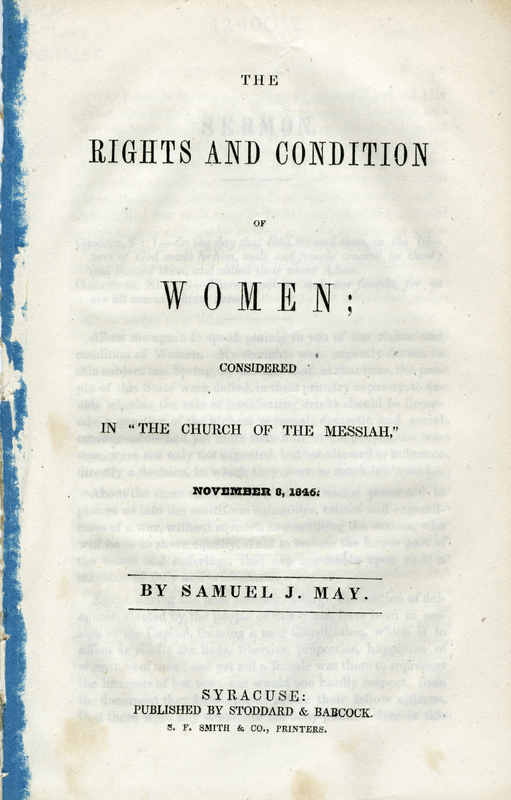 The Rights and Condition of Women