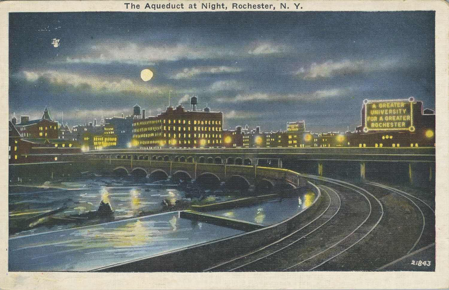 The Aqueduct at Night, Rochester, N.Y.