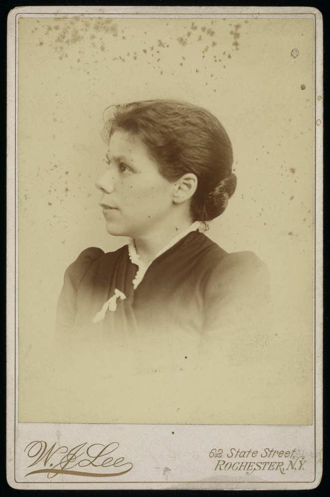 Lee, W. T. Carte-de-visite of Emma Sellew Roberts, Rochester, New York, 1870s.