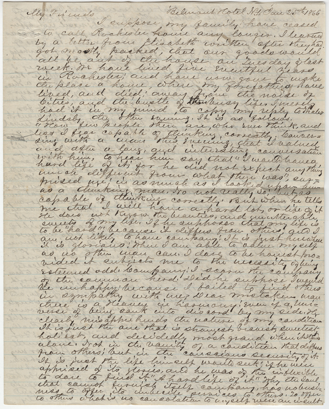 Wheeler, Edward. Letter to Isaac Post.