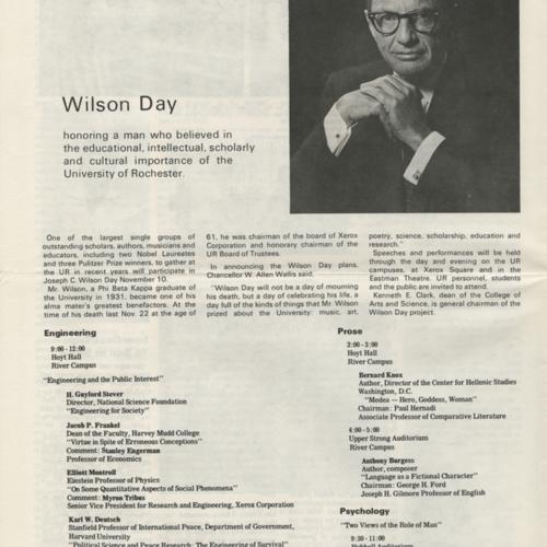 Wilson Day schedule (Currents)