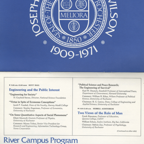 Program, Wilson Day 1972