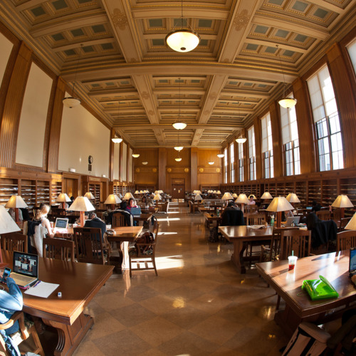 Rush Rhees Library: Martin E. Messinger Periodical Reading Room