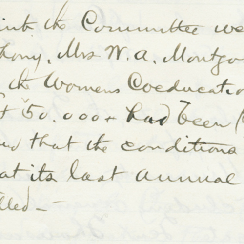 Minutes of the Board of Trustees, September 8, 1900