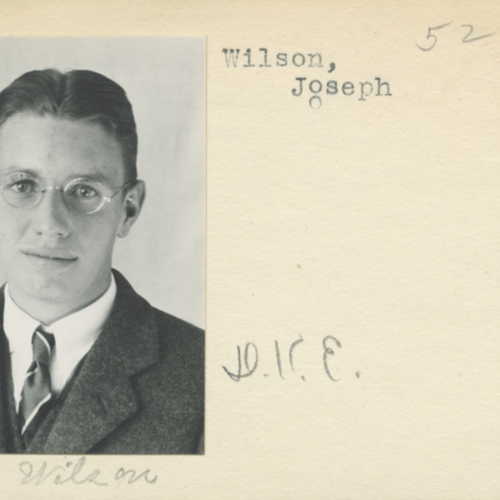 Student Identification card issued to Joseph C. Wilson